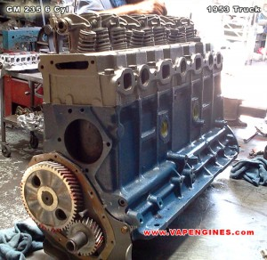 1953 Chevy GM 235 6 cylinder engine rebuild- side view