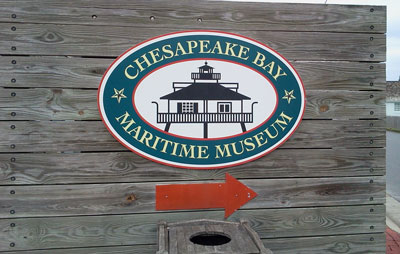 chesapeake bay maritime museum sign