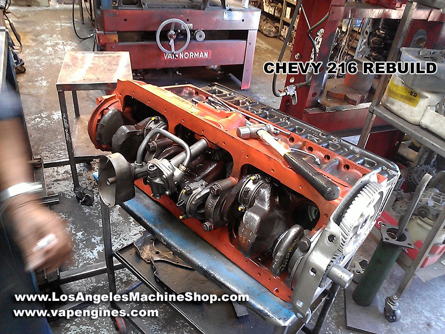 Chevy GM 216 Engine Rebuild - Los Angeles Machine Shop