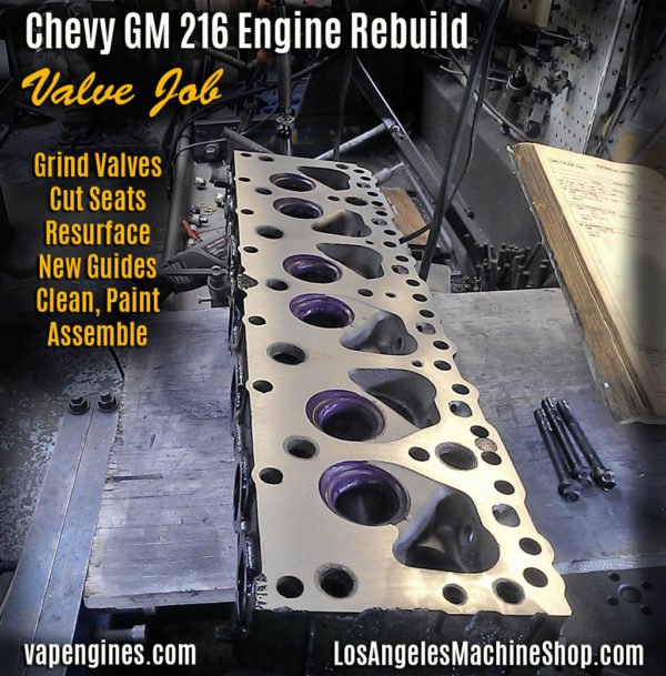 Chevy GM 216 cylinder head valve job