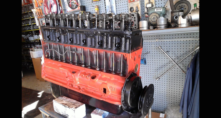 Rebuilt remanufactured Chevy GM 216 engine