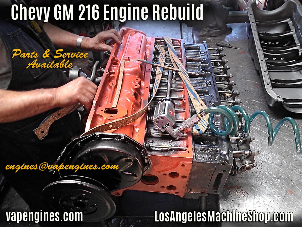 Chevy Gm 216 Engine Rebuild Los Angeles Machine Shop 1949 Wiring Harness Sleeve Oil Pan Gasket