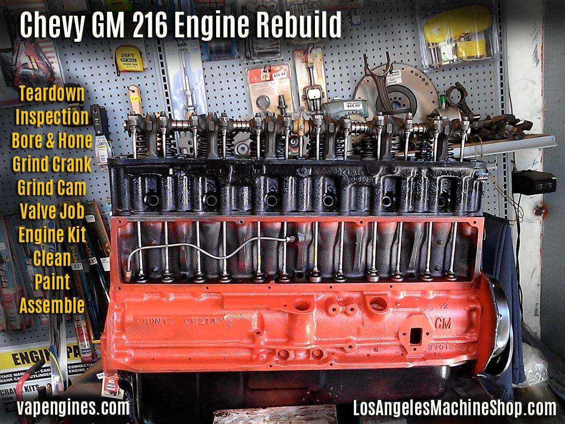 Chevy Gm 216 Engine Rebuild Los Angeles Machine Shop 1949 Wiring Harness Sleeve Repair