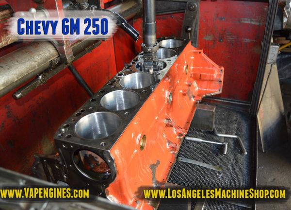 Hone Chevy 250 engine block
