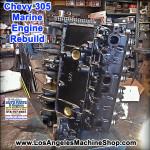Remanufactured chevy 305 marine engine