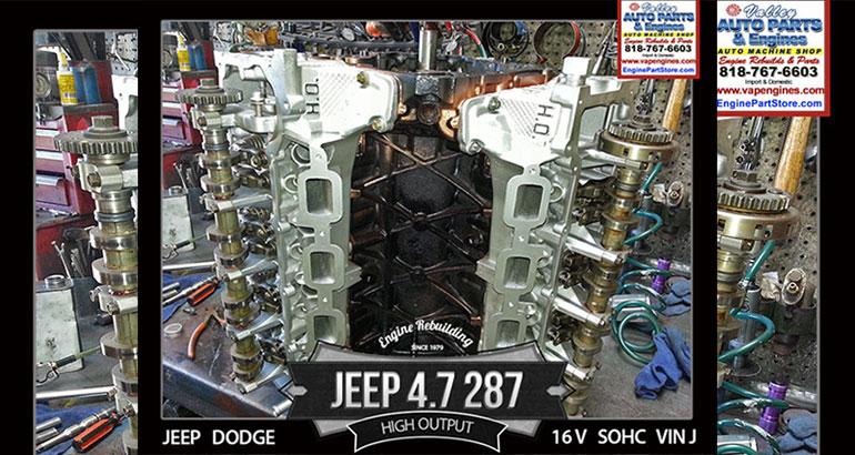 Jeep Grand Cherokee 4.7 V8 16V Engine rebuild, VIN J with High Output.