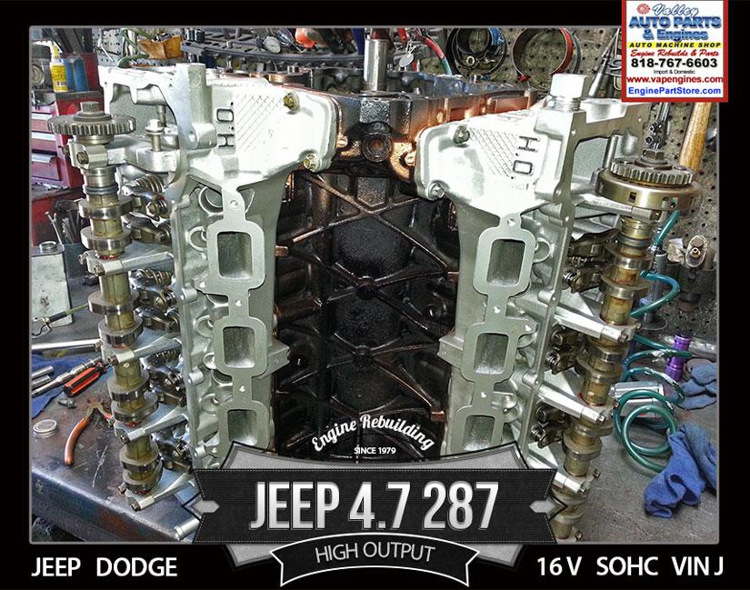 jeep 4 7 v8 engine ho vin j los angeles machine shop. Black Bedroom Furniture Sets. Home Design Ideas