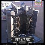 Jeep Dodge 4.7 V8 HO engine before rebuild
