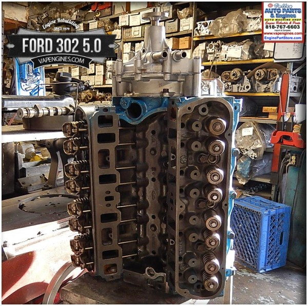 Ford 302 5.0 Remanufactured Engine - Los Angeles Machine ...
