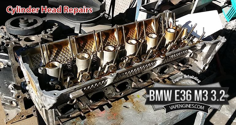 BMW cylinder head valve job