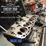 Chevy 350 valve job cylinder head