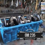 Building Chevy GM 235 engine Short block