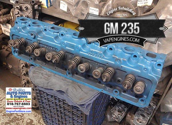 chevy gm 235 cylinder head valve job