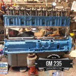 chevy gm 235 long block with chrome