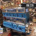 Chevy GM 235 engine with chrome accessories