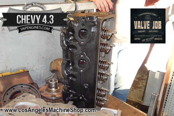Chevy GM 4.3 Cylinder Head Valve Job