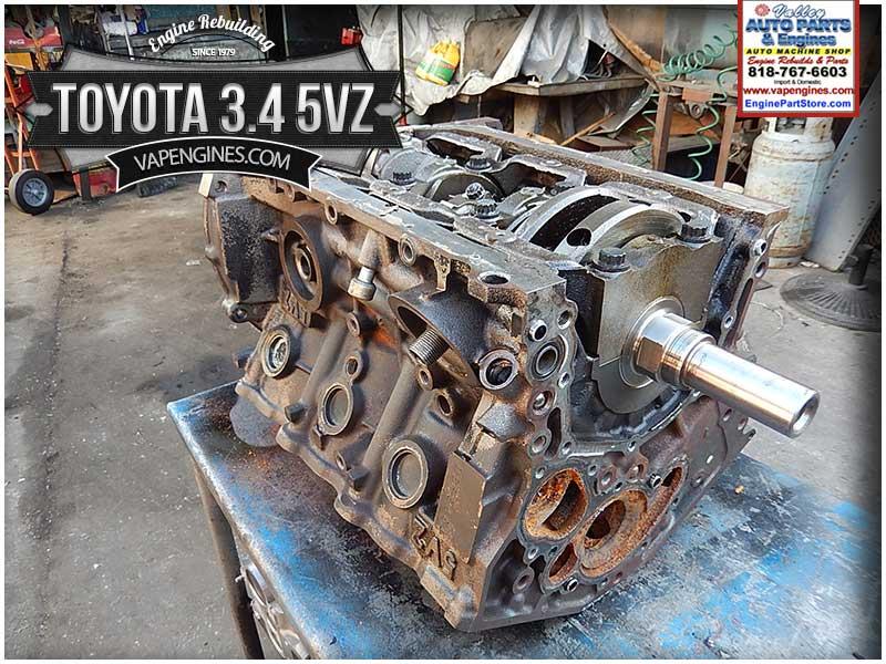 Toyota 3 4 5vz Engine Rebuild Los Angeles Machine Shop