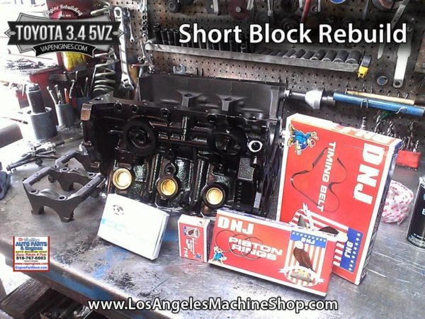 Toyota 5VZ 3.4 short block engine rebuild.