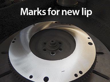 mark for flywheel recessed edge specs