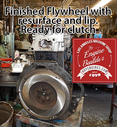 resurfaced flywheel on long block