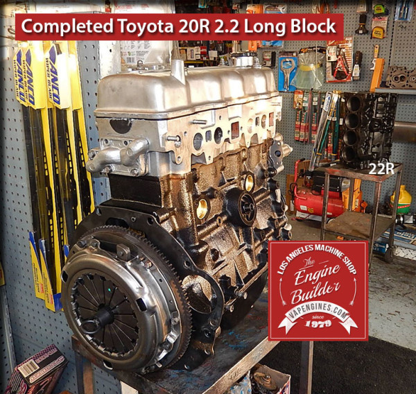 Remanufactured Toyota 20R engine