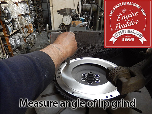 measure depth of cut on flywheel