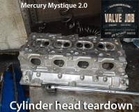 mercury cylinder head teardown