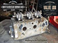 mitsubishi mincab 3g81 cylinder head valve job