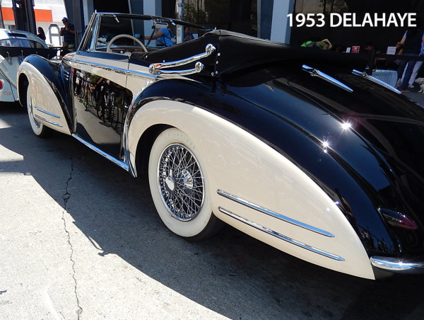 classy tires on the Delahaye