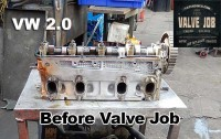 vw 2.0 cylinder head before valve job