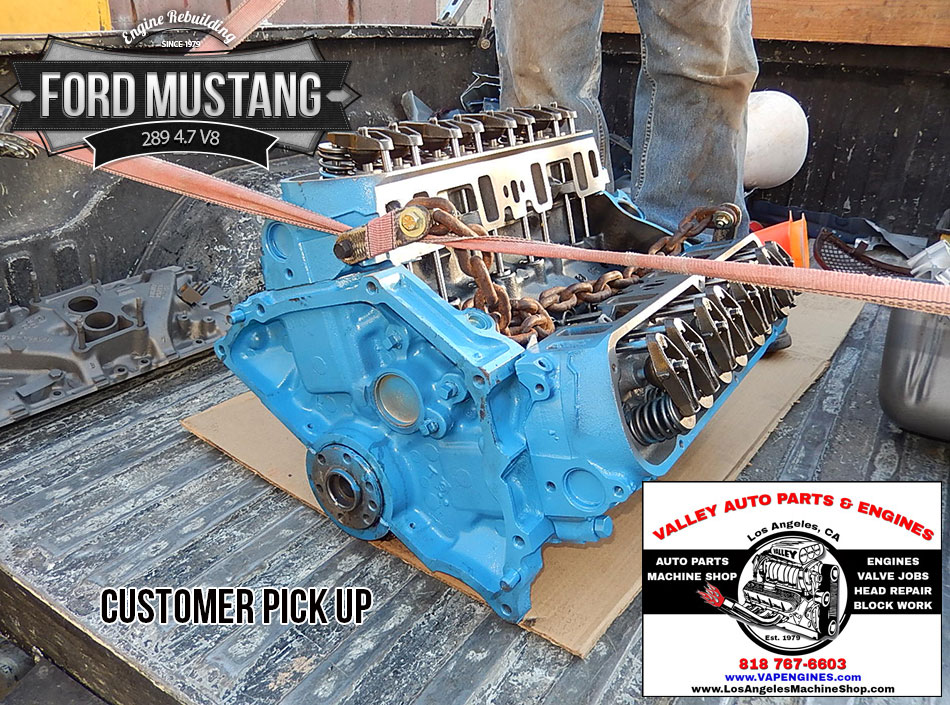 Customer pick up Ford Mustang 289 rebuilt engine