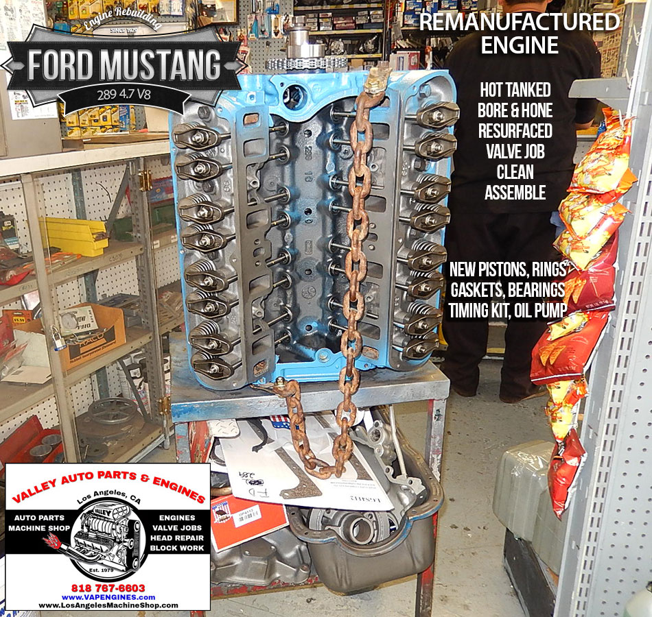 rebuilt ford mustang 289 engine