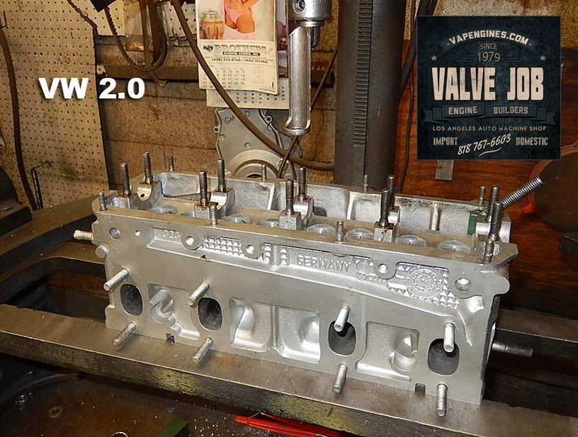 VW 2.0 cylinder head during valve job