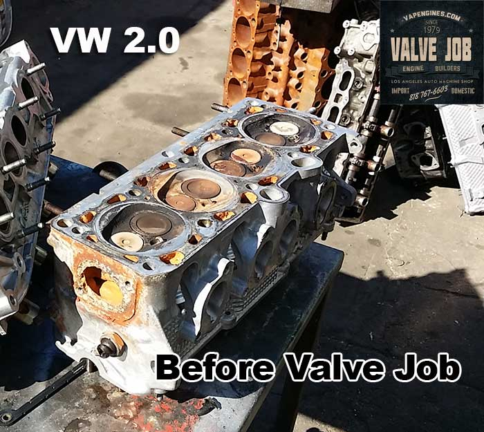 VW 2.0 cylinder head before cylinder head repair