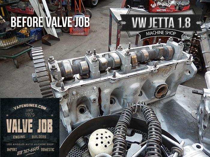 before valve job-87 vw 1.8 cylinder head
