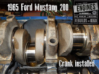 crank installed on ford mustang 200 I6 short block
