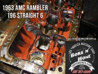 honing AMC Rambler 196 engine block
