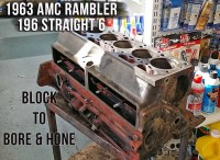 Rambler AMC 196 waiting for bore and hone