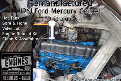 61 Mercury Comet 170 Straight 6 Rebuilt Engine