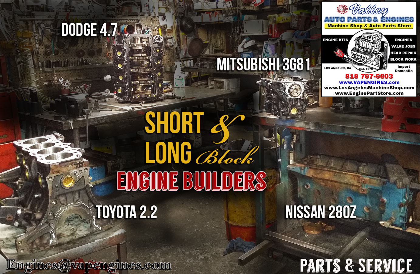Short and Long block engine rebuilding service