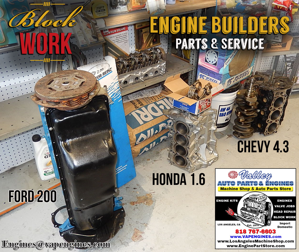 Los Angeles engine block repair and rebuilds