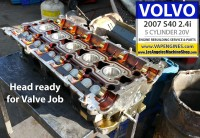 Volvo S40 head before rebuild