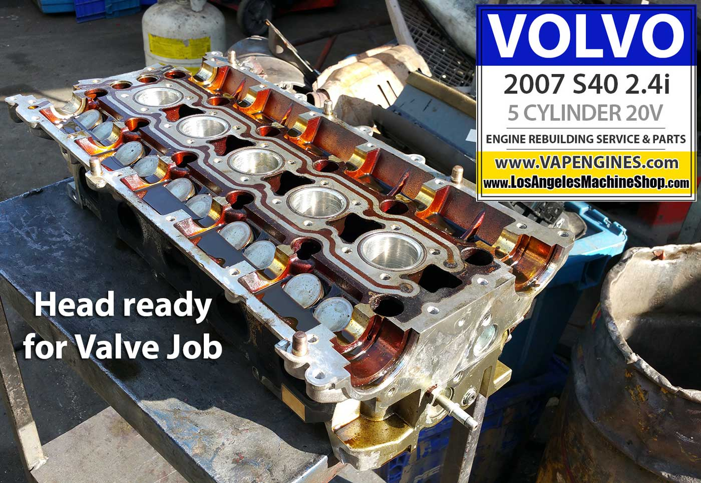 07 Volvo S40 2.4i Engine Rebuild - Los Angeles Machine ...