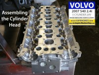Volvo cylinder head assembly