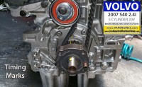 Lower gear timing marks Volvo S40