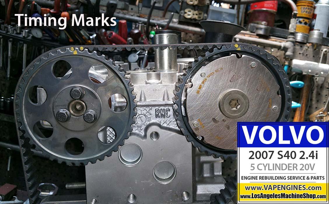 07 volvo s40 2 4i engine rebuild los angeles machine volvo s40 timing mark photo
