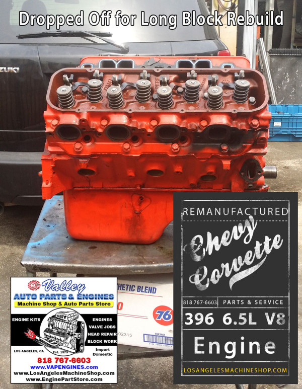 big block chevy 396 engine to rebuild