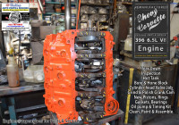 Rebuilt Big Block Chevy 396 engine rebuild shop
