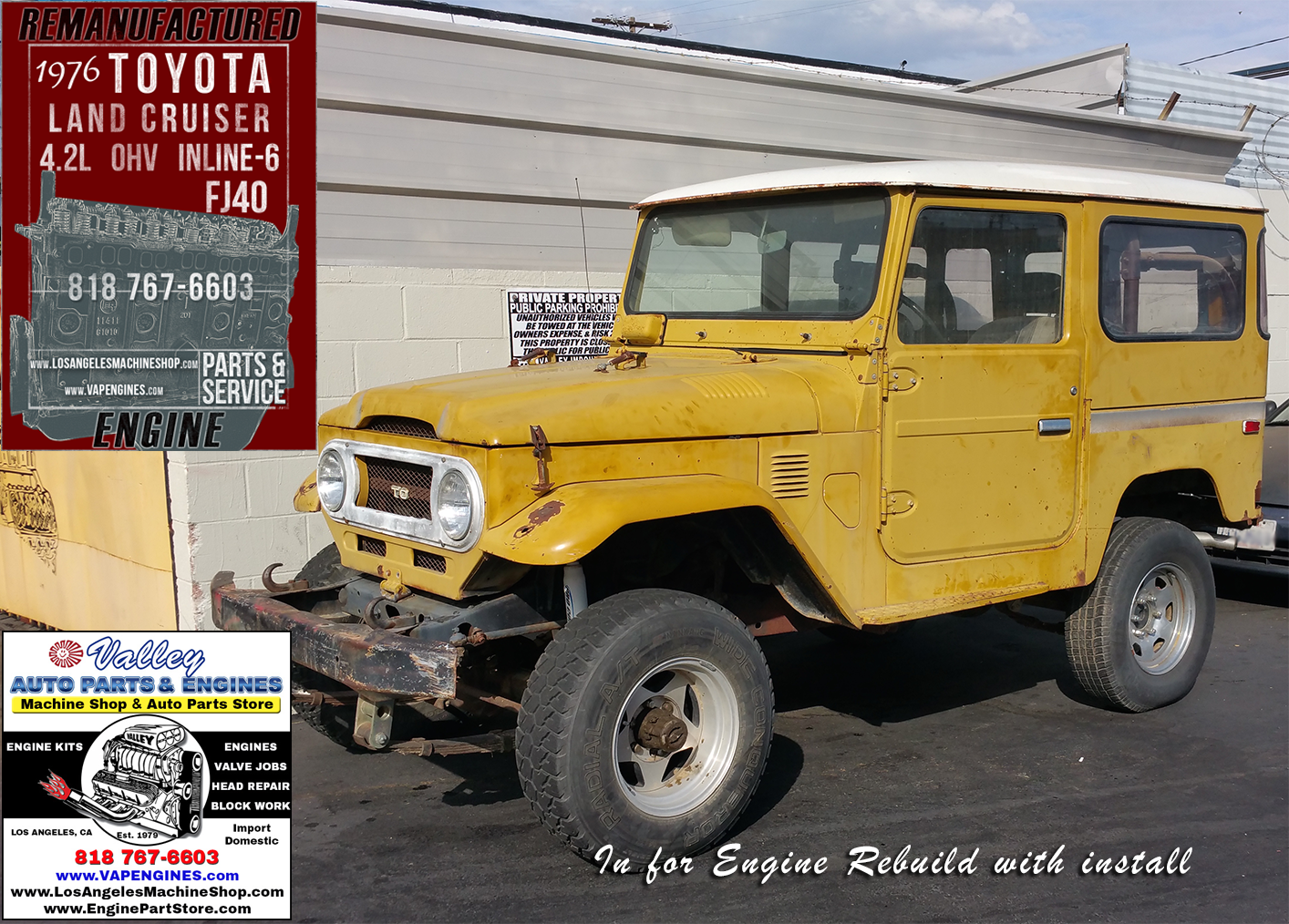 76 Toyota Land Cruiser FJ40 4 2 Engine Rebuilding - Machine