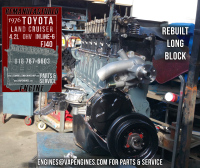 76 Toyota Cruiser FJ40 4.2 rebuilt long block